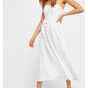 NWOT Free People The Isha Tube Midi Dress